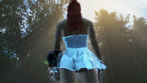 А если в платье и сзади?! ;) Fallout-4 (сборка 6.0)