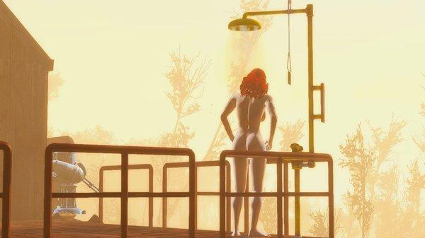 Душ в туманном рассвете.. Fallout-4 (сборка 6.0)