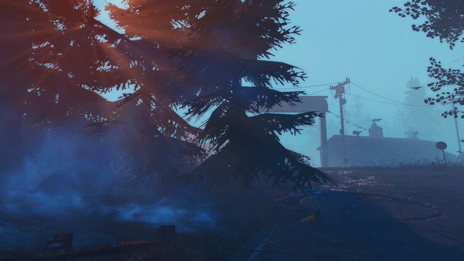 Рядом с лесопилкой на озере.. Fallout-4