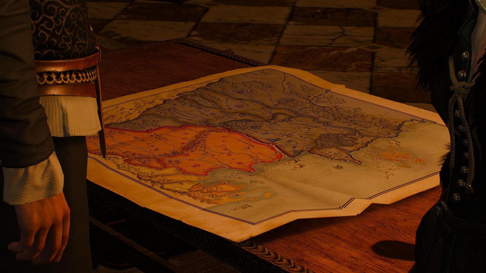 Карта мира с множеством приключений..