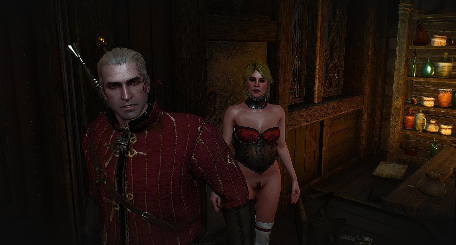 Ведьмак зашёл к Лютику, а у него - голые бабы! ))