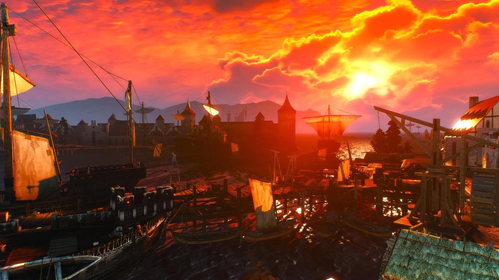 Порт Новиграда на закате.. WITCHER III