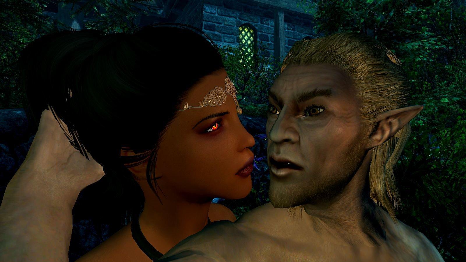 Перед поцелуем.. SkyrimSE (сборка 6.0 ЛЕТО)