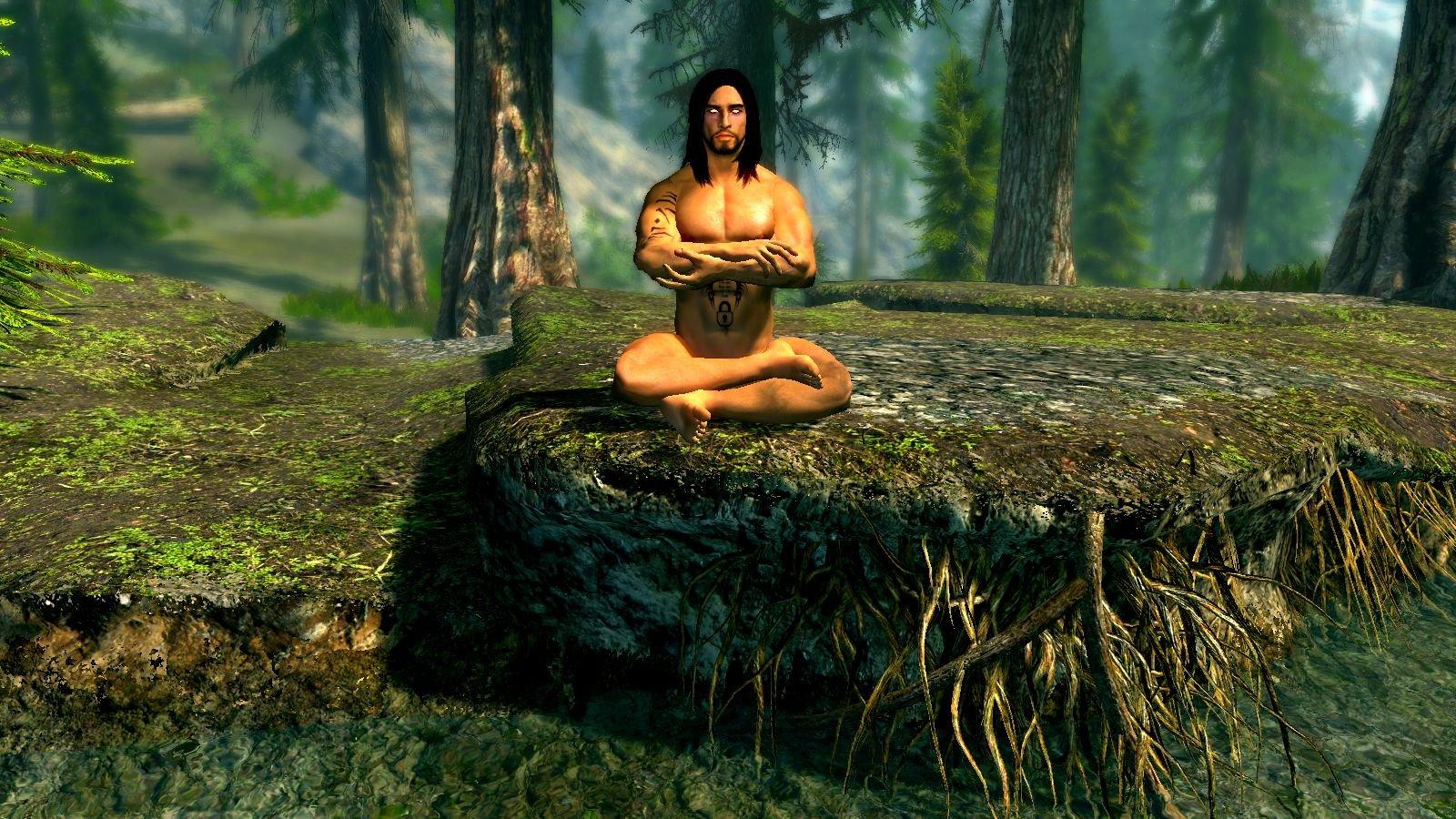 Эйран медитирует.. SkyrimSE (сборка 6.0 ЛЕТО)