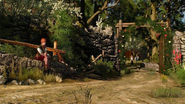 Шани на фоне деревенского пейзажа.. (сборка Торна)