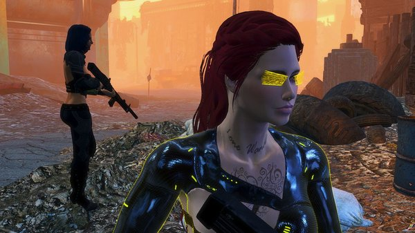 Алиса с подругой.. Fallout-4 (сборка 6.0)
