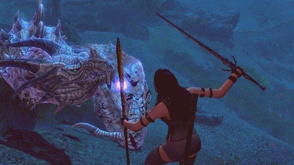 Лидия бьётся с драконом.. SkyrimSE (сборка 6.0)