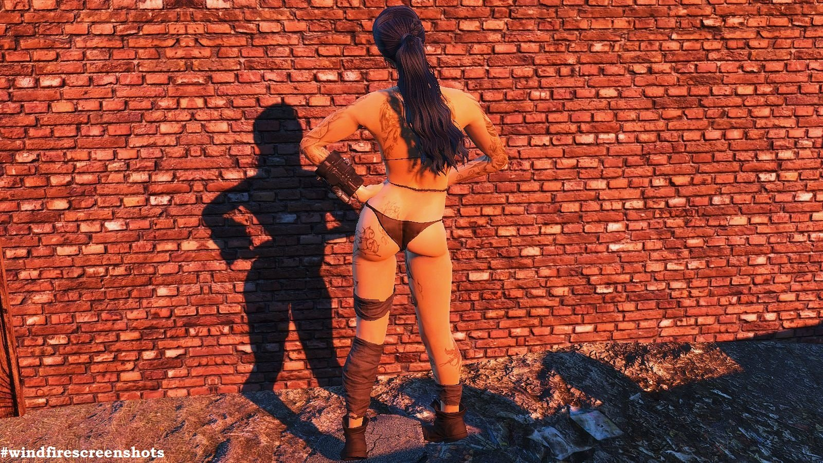 Стена, тень, тату.. FALLOUT-4 (Сборка 6.1)