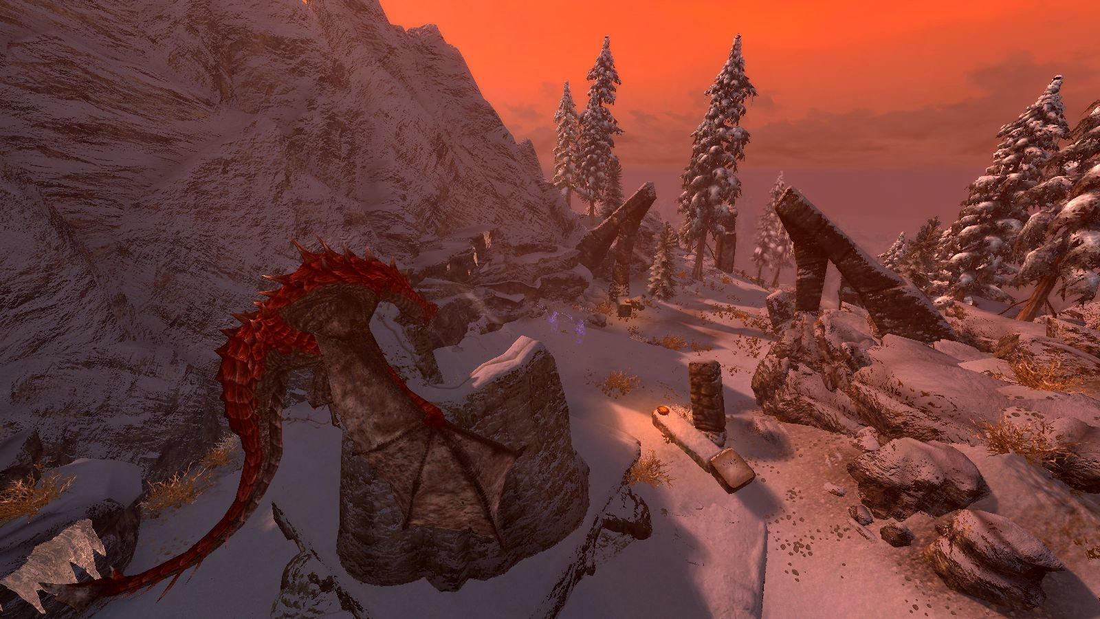 """Драконий пейзаж"". SkyrimSE (сборка 6.0)"