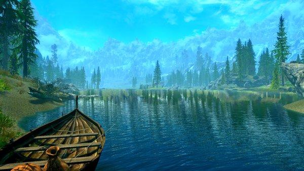 Озеро в Фолкрите. SkyrimSE (сборка 6.0)