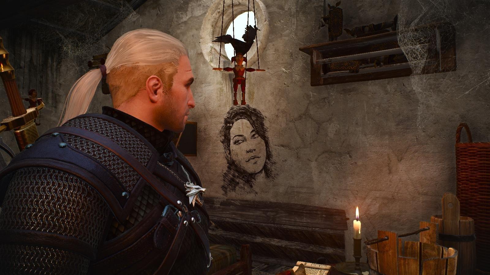 Портрет девушки не стене.. Ведьмак III (сборка Торна)