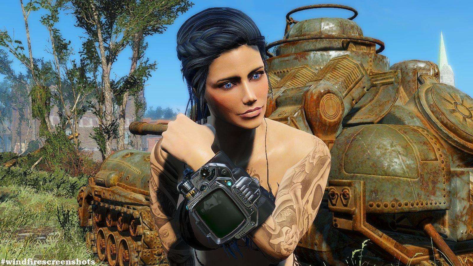 Алиса возле бронетехники. FALLOUT-4 (Сборка 6.2)