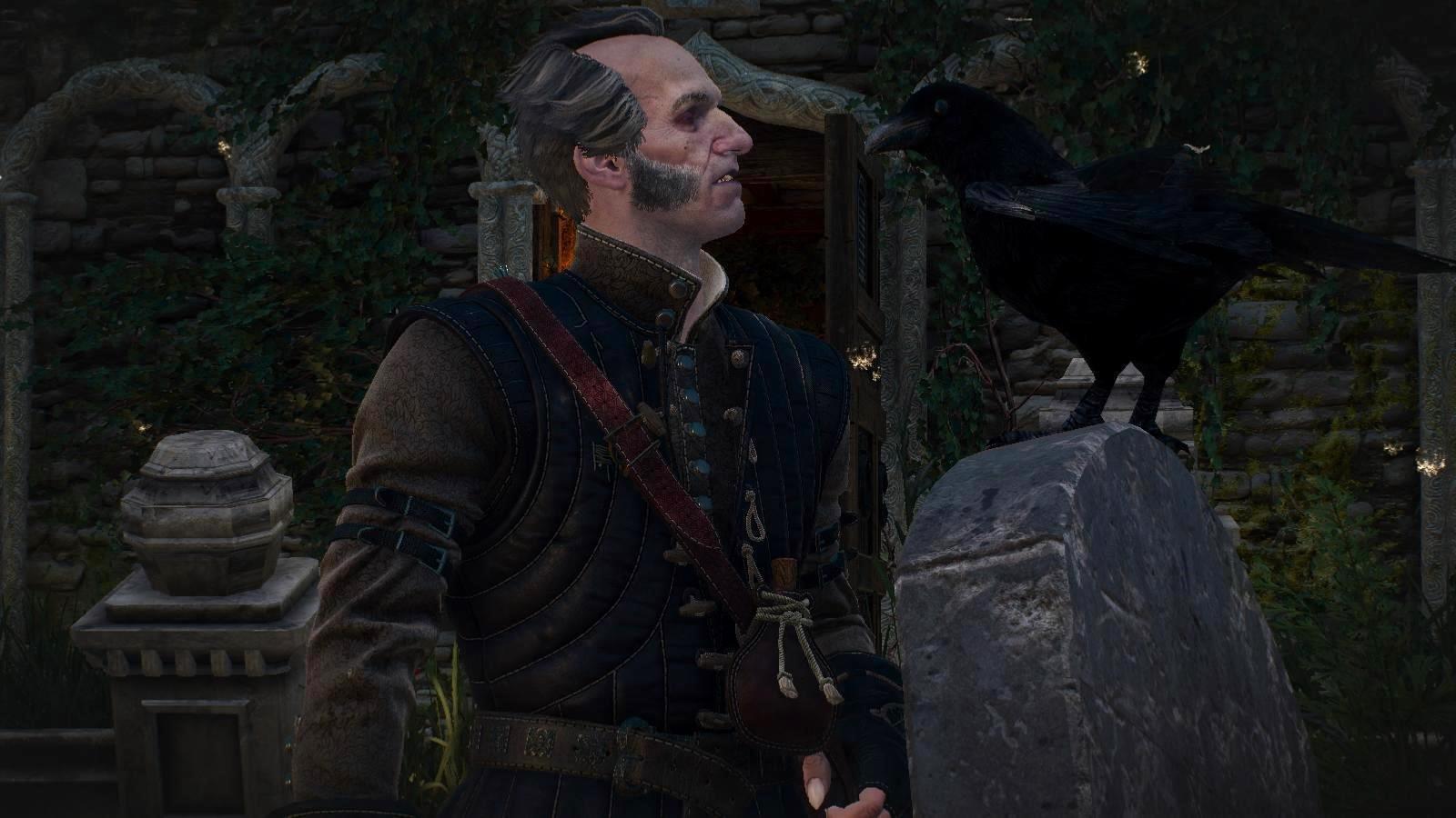 Вампир говорящий с вороном. ВЕДЬМАК III (сборка Торна)