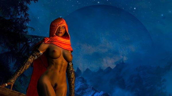 Дориана - женщина вервольф. SkyrimSE (сборка 6.0)