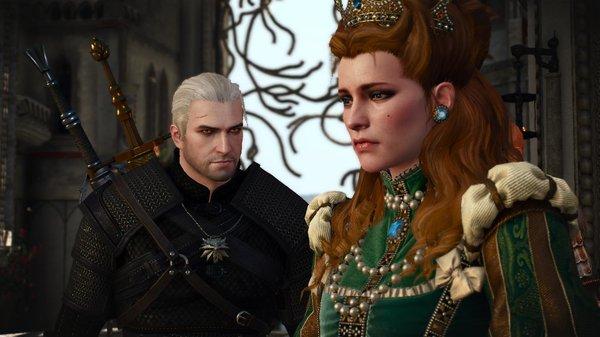 Геральт и княгиня.. Ведьмак III (сборка Торна)
