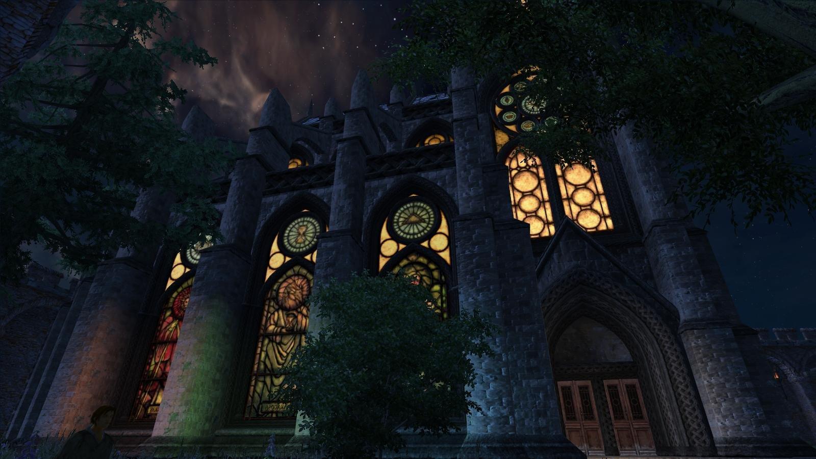 Храм Чейдинхола ночью.. OBLIVION (Сборка 4.0)