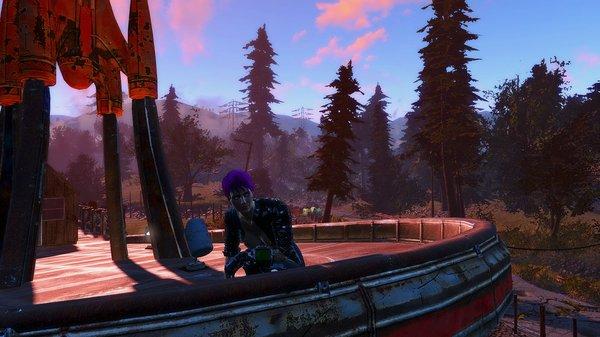 Ева на крыше Кр.Ракеты.. Fallout-4 (Сборка 6.4)