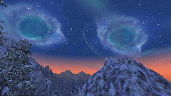 Вдалеке Скайримские горы! ;) OBLIVION (Сборка 4.0)