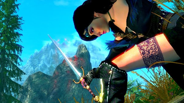 Йен тренируется с мечем.. SkyrimSE (сборка 6.0)