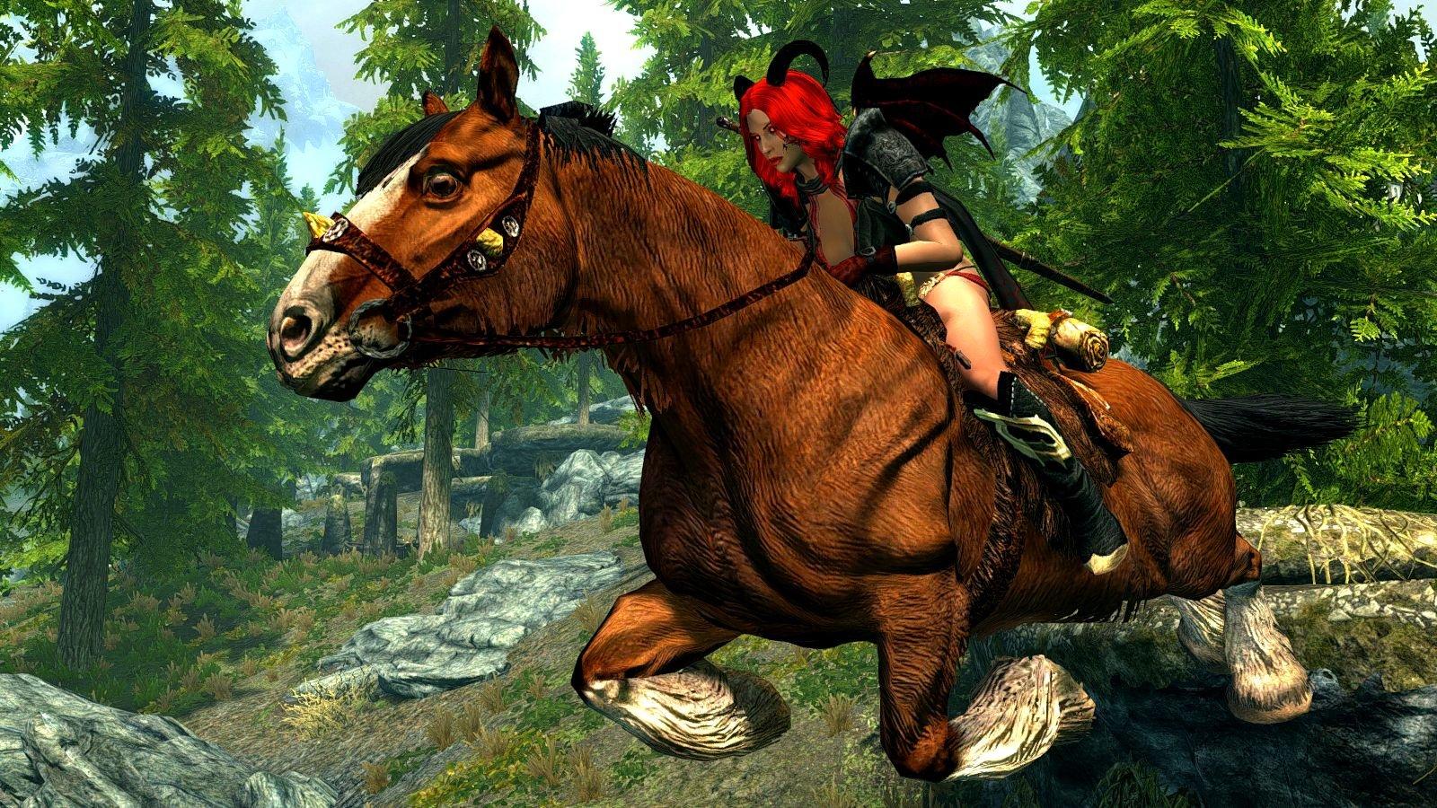 Эллари летщая нак коне.. SkyrimSE (сборка 6.0)