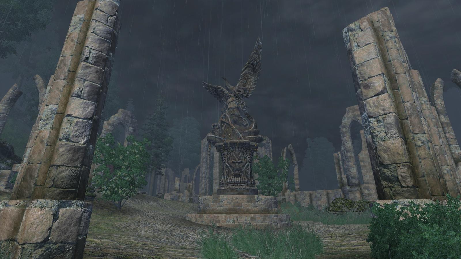 Ливень в Айлейдских руинах.. OBLIVION (Сборка 4.0)