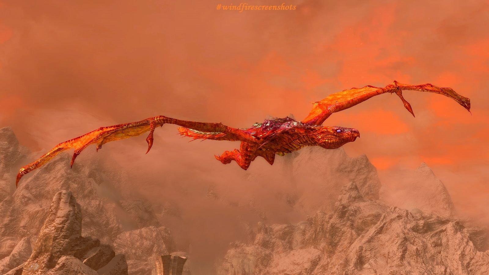 Дракон в небе.. SkyrimSE (сборка 6.0)