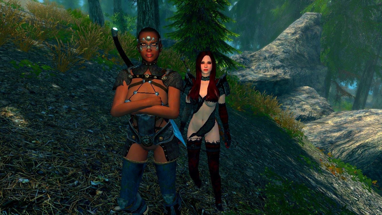 Подруги - Райя и Серана.. SkyrimSE (сборка 6.0)
