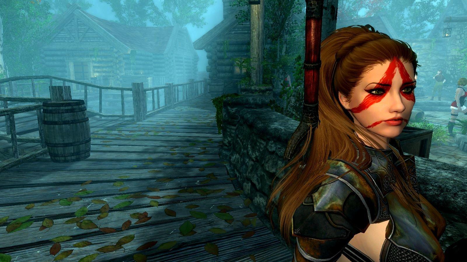 Дева-воин в Рифтене.. SkyrimSE (сборка 6.0)