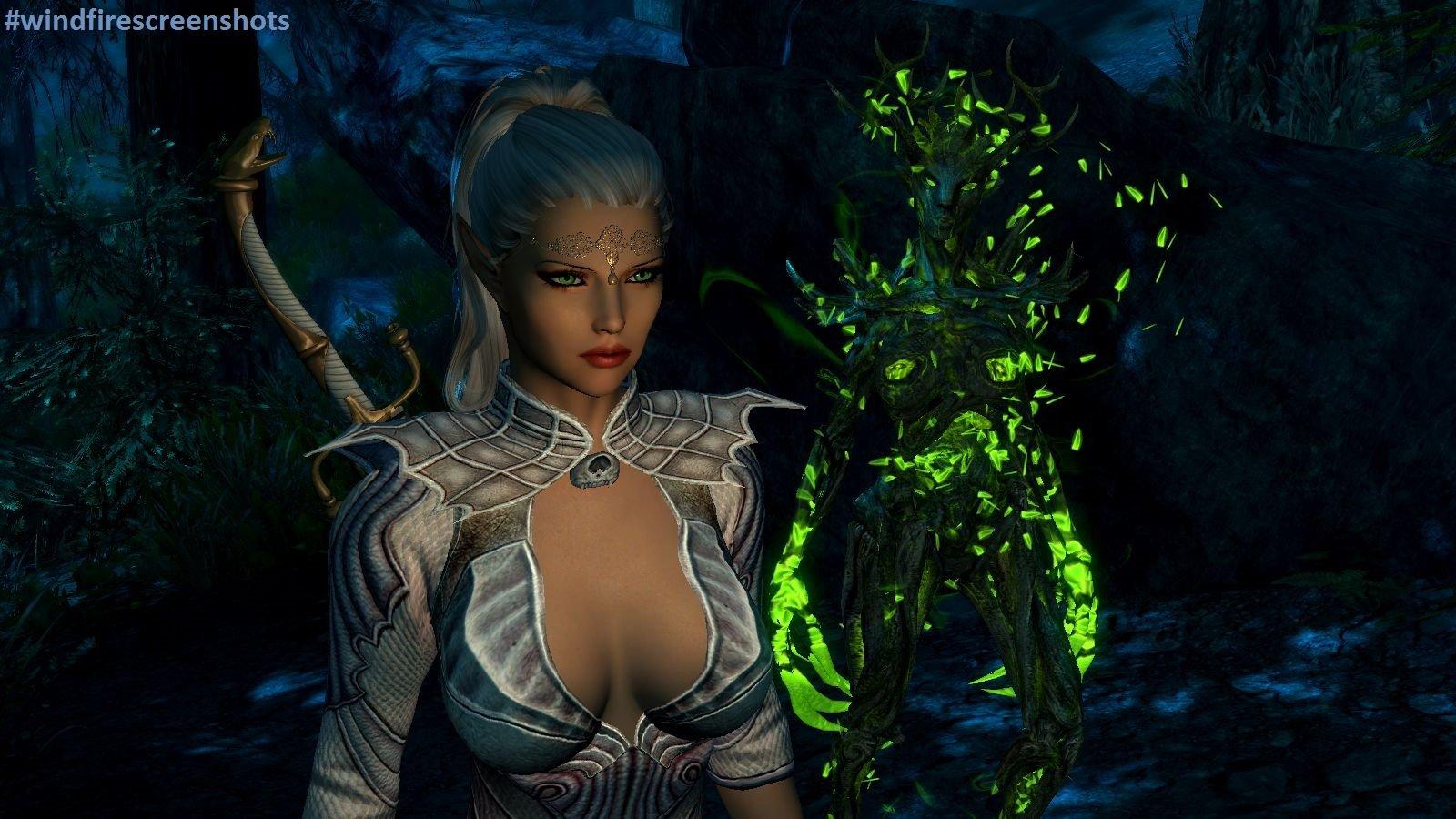 Эльфис, как эльф повеливает стихией природы.