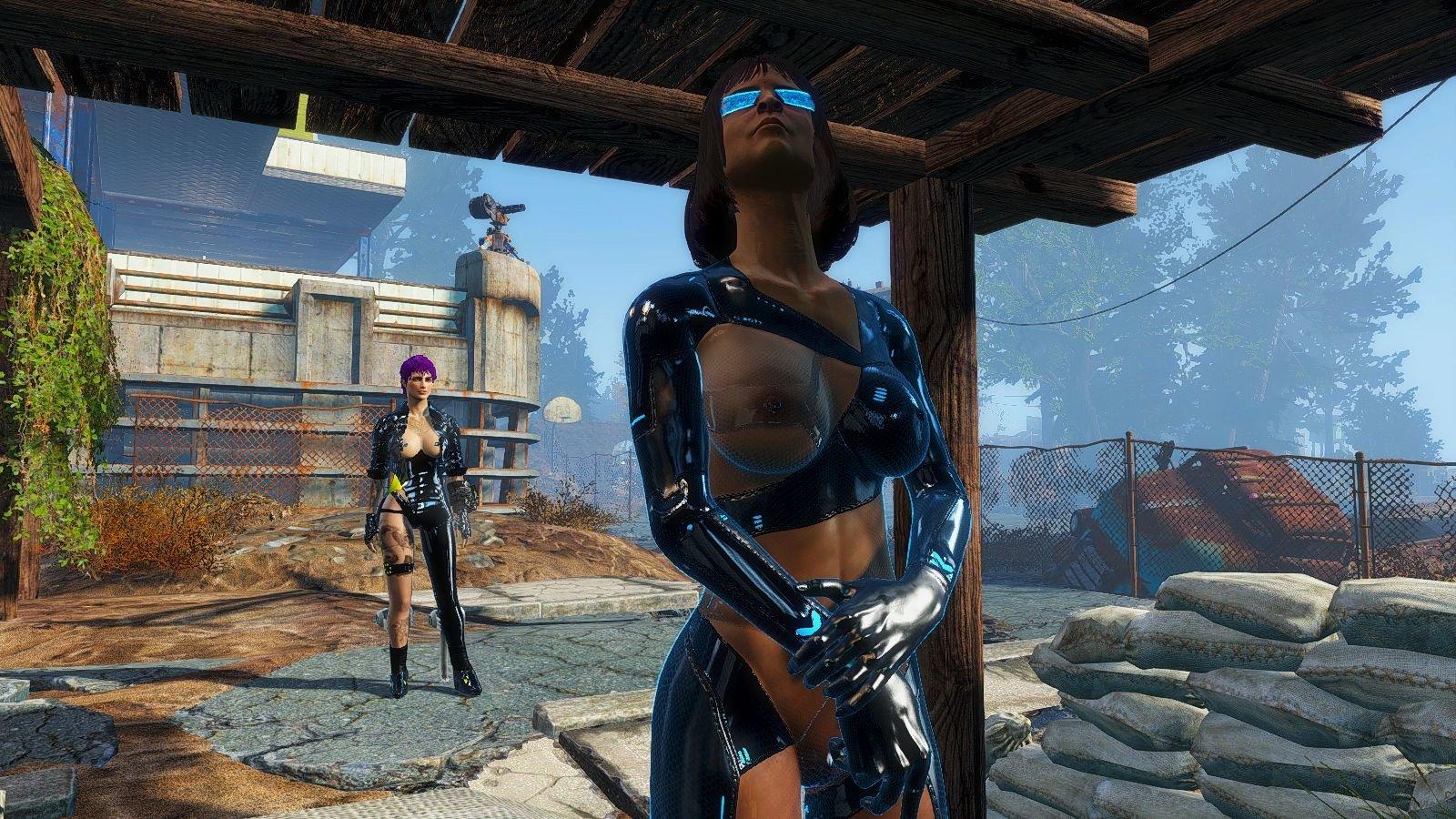 Охранница поселения.. Fallout-4 (Сборка 6.4)