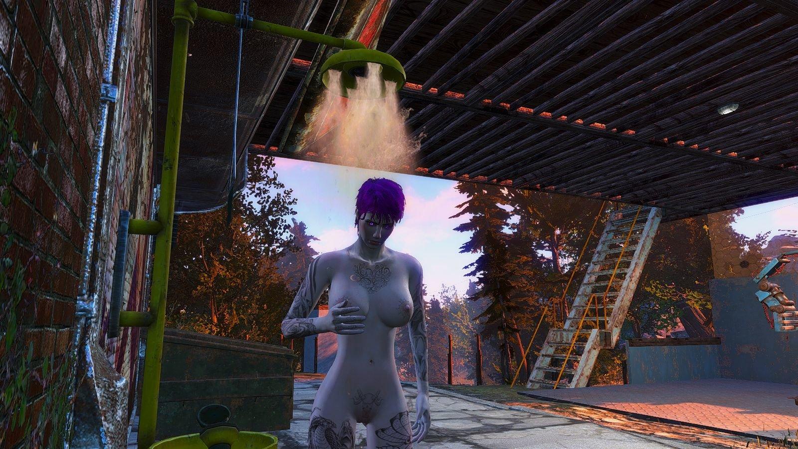 Вечерний душ.. Fallout-4 (Сборка 6.4)
