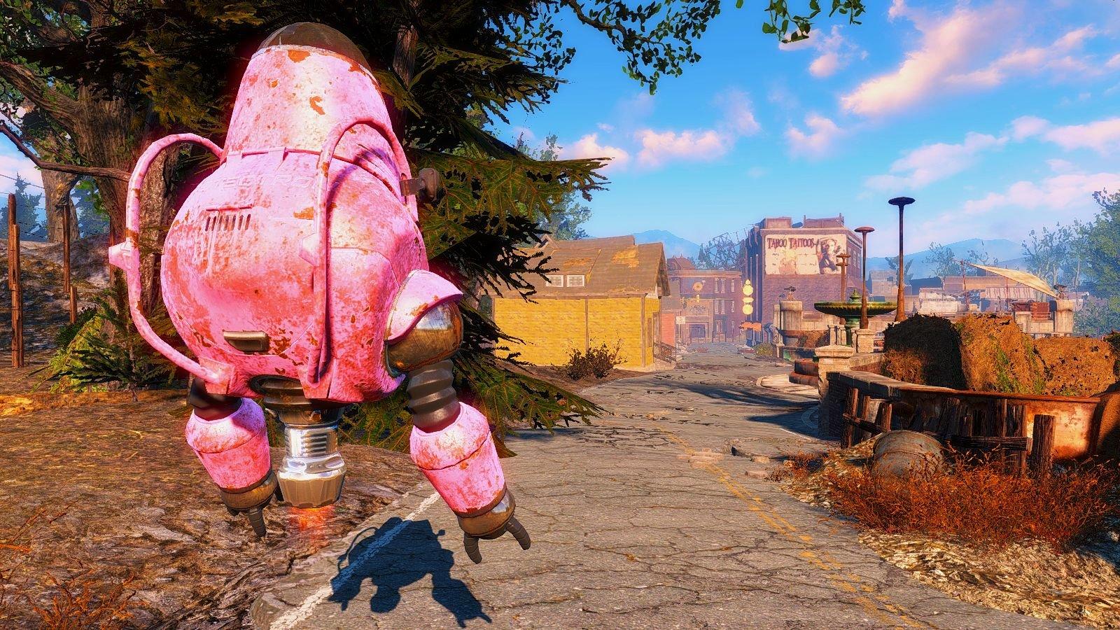 Робот Роза гуляет с Евой по Содружеству.