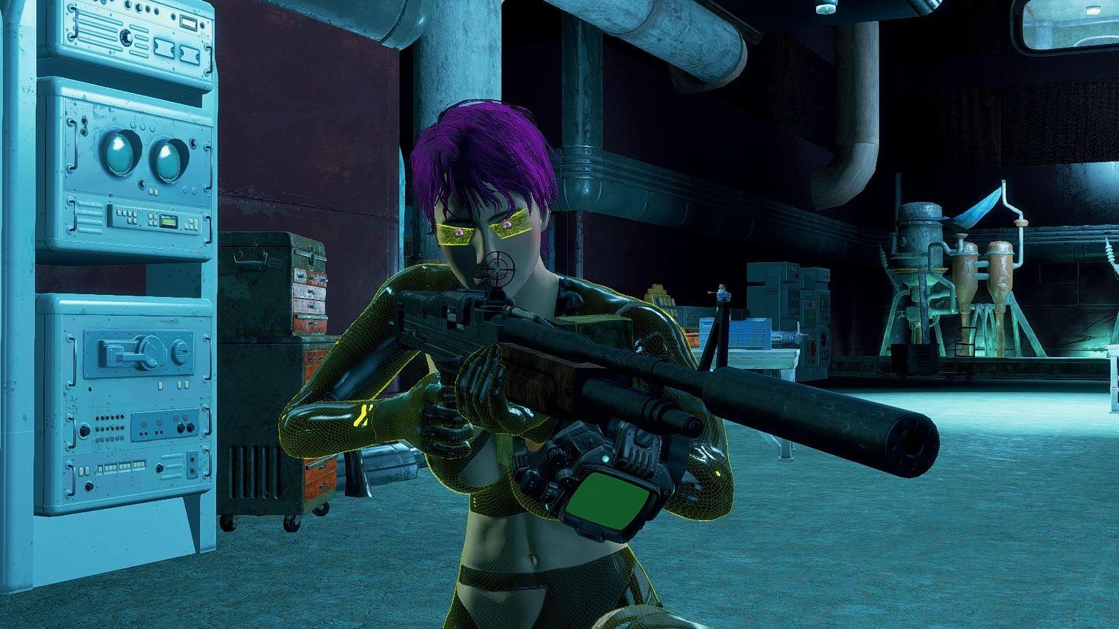 Ева в секретном бункере.. Fallout-4 (Сборка 6.4)