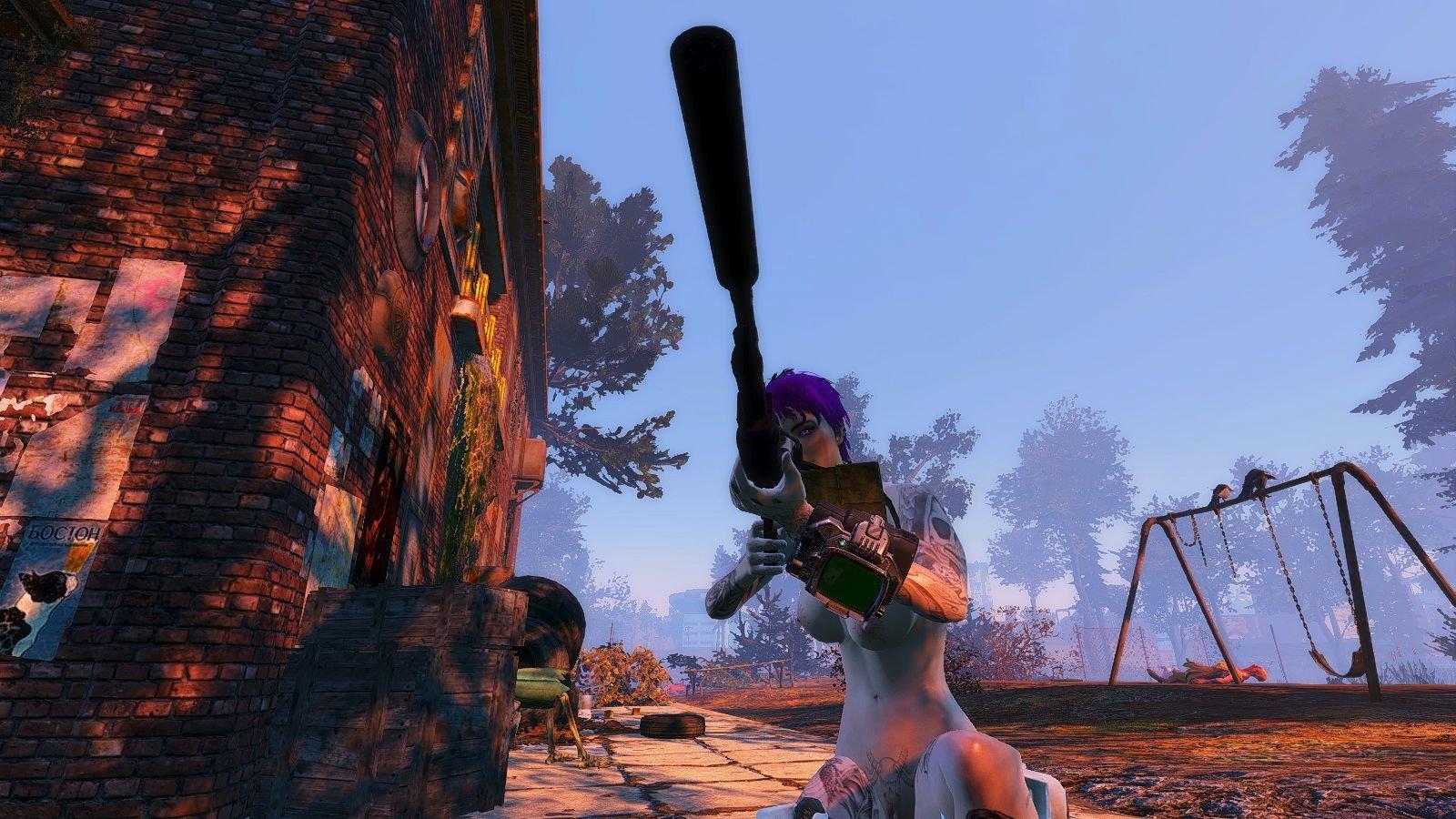 Ева с бесшумным пулеметом..