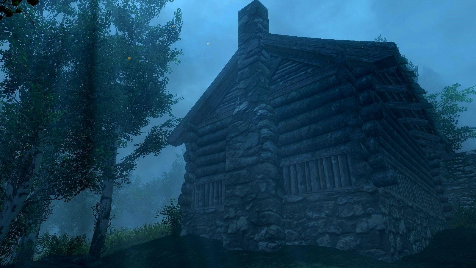 Дом в свете лунного света.. SkyrimSE (сборка 6.0)