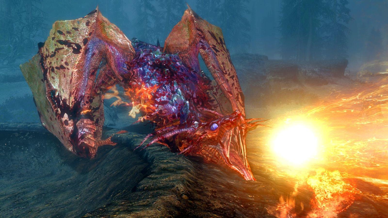 Огнедышащий дракон.. SkyrimSE (сборка 6.0)
