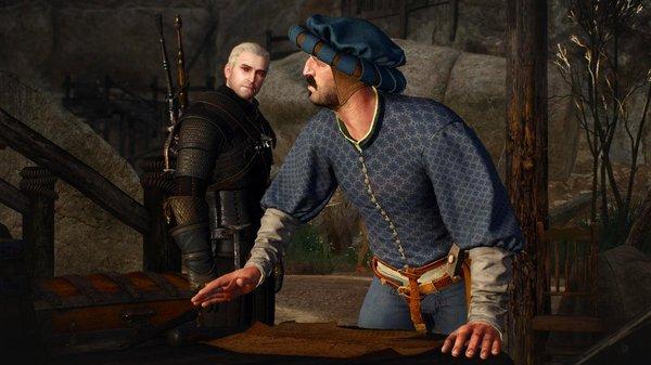 Геральт и заказчик.. Ведьмак III (сборка Торна)
