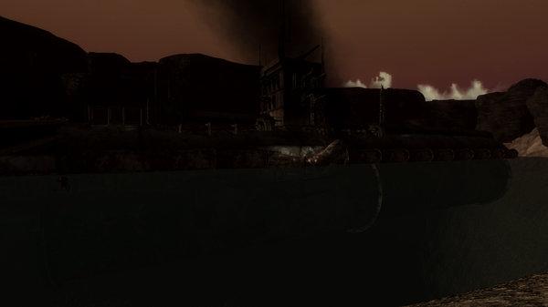 Сама подлодка после атаки Тантрума