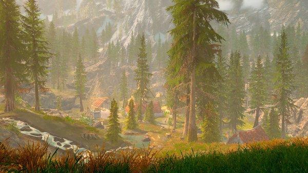 Вид на Фолкрит.. SkyrimSE (сборка 6.0)