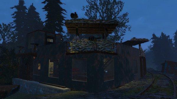 Поселение в заброшеном депо.