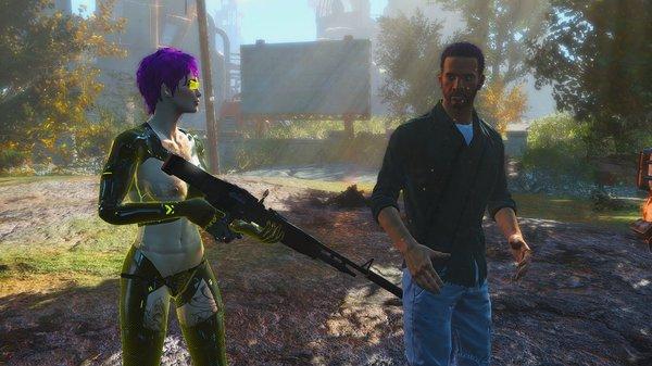 Ева разговаривает с поселенцами.
