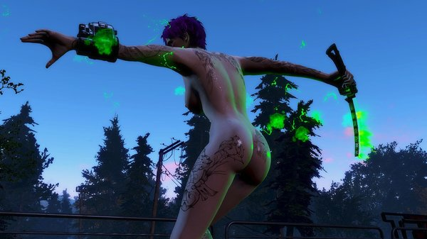 Ева с плазменой катаной.. Fallout-4 (Сборка 6.4)