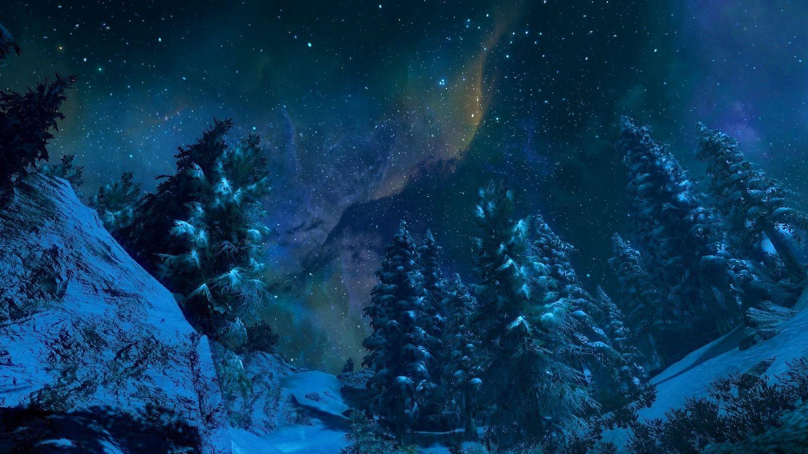Ночной пейзаж.. SkyrimSE (сборка 6.0)