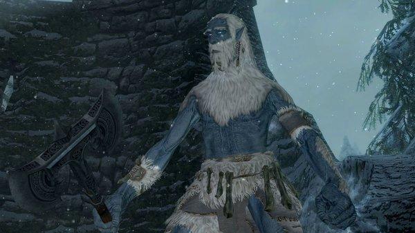 Ледяной великан.. SkyrimSE (сборка 6.0)