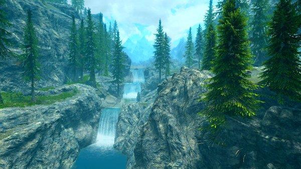 Горная река.. SkyrimSE (сборка 6.0)