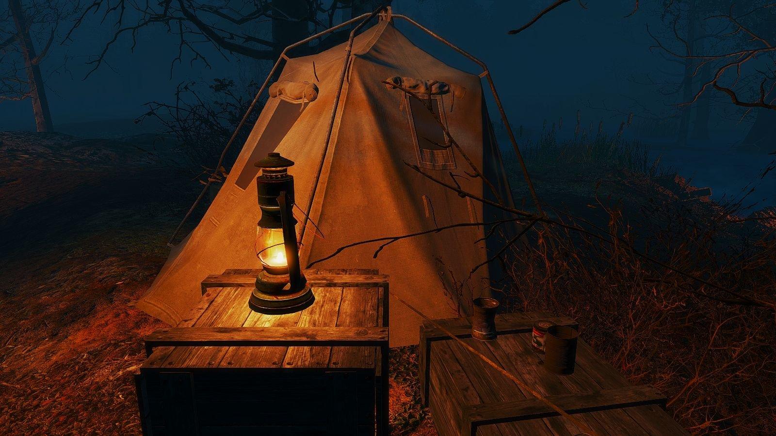 Ночью на болоте.. Fallout-4 (Сборка 6.5)