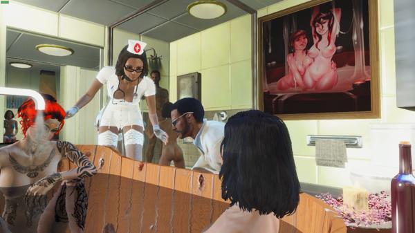 Пайпер и Алиса в ванной.