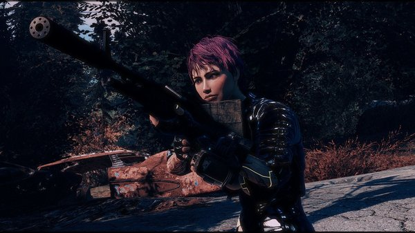 Ева с пулеметом. Fallout-4 (Сборка 6.5)