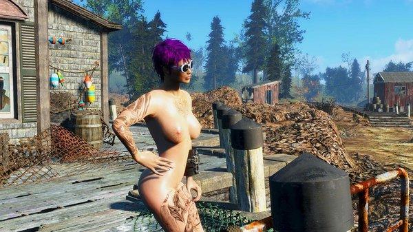 Загар на пирсе..  Fallout-4 (Сборка 6.5)
