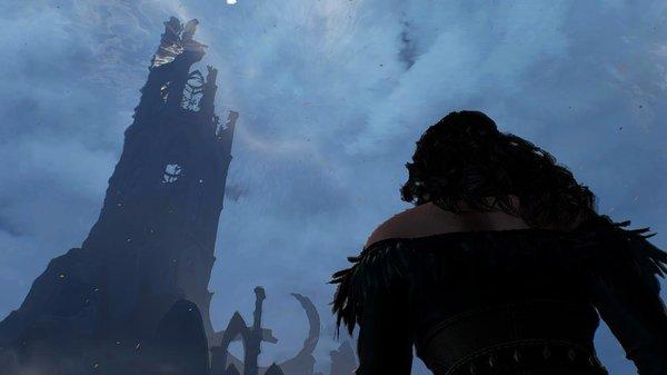 Йеннифер идёт к башне.. Ведьмак III (сборка Торна)